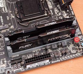 Kingston HyperX FURY 4 GB 2133 MHz instalada